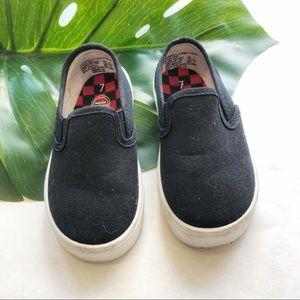 Wonder Nation Black Slip-On Shoes Toddler Size 7